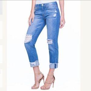 NWT Liverpool Kennedy Crop Boyfriend Jeans